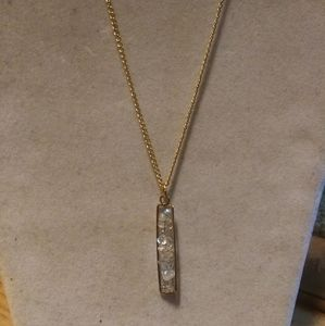 Nwt Anthro 14k GP 925 Moonstone Pendulum necklace
